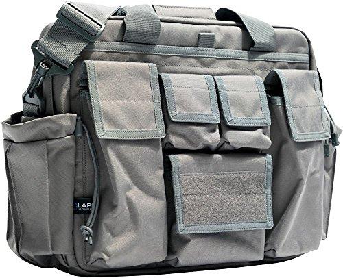 LA Police Gear Polyester Jumbo Bail Out Bag-Grey