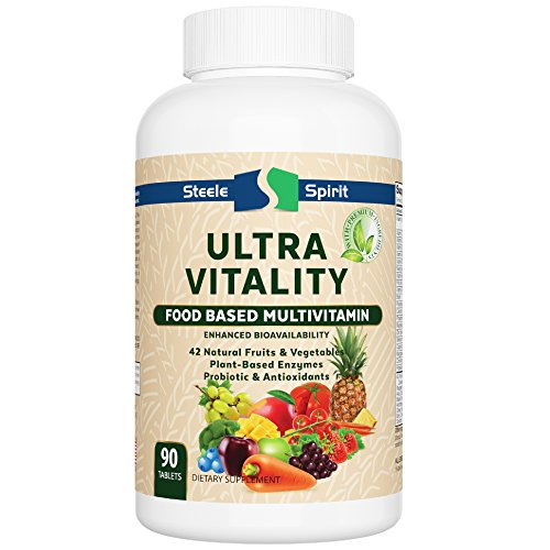 Daily Multivitamin Wholefood Supplement - 42 RAW Fruits and Vegetables - High Potency Non-GMO