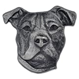 PinMart's Silver 3D Pittbull Dog Breed Dog Lover Lapel Pin