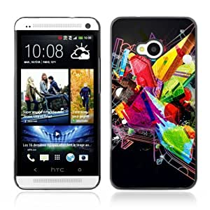 YOYOSHOP [Abstract Colorful & Cool Design] HTC One M7 Case