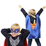 Justice League Superhero Cape and Mask Costumes Set - Matching 295 Reward Stickers