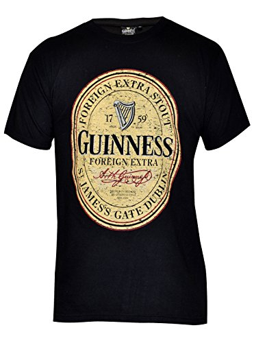Guinness Distressed English Label Tee, XX-Large