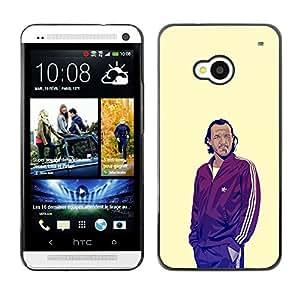ROKK CASES / HTC One M7 / GOT BRONN / Delgado Negro Plástico caso cubierta Shell Armor Funda Case Cover