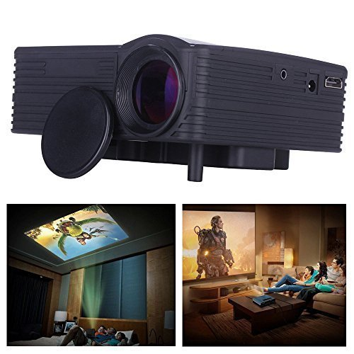 Projector, Lary intel Portable Mini 1080P Hd Led Projector C
