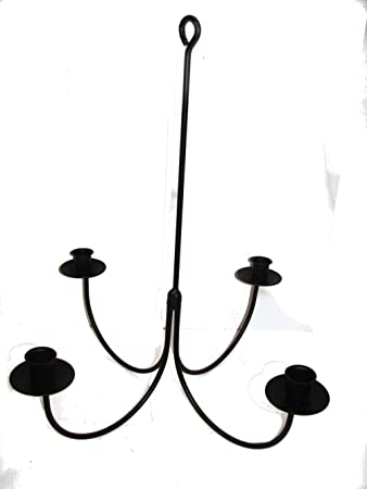 Elegant Wrought Iron 4 Arm Candle Chandelier