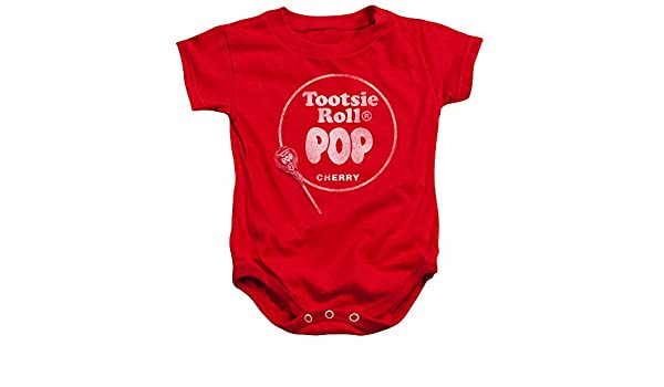 4709dfff Amazon.com: Tootsie Pop Cherry Logo -- Tootsie Roll Infant One-Piece  Snapsuit: Clothing