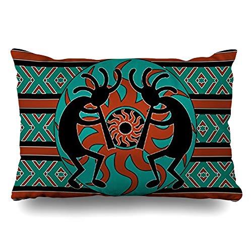 InnoDIY Throw Pillow Covers Cool Blue Butterfly Art Pillowslip Queen Size 20