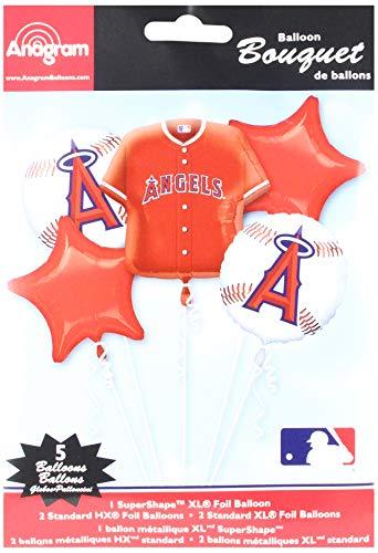 Anagram 32046 Anaheim Angels Balloon Bouquet, Multicolored