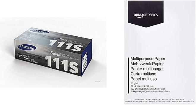 Samsung Mlt D111s Schwarz Original Toner Und Bildtrommel Amazon Basics Druckerpapier Din A4 80 G M 500 Blatt Weiß Bürobedarf Schreibwaren