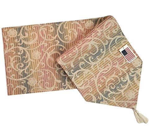 Manual Casablanca Mediterranean Spring Stripe Tapestry Tablerunner UCSB72 13x72