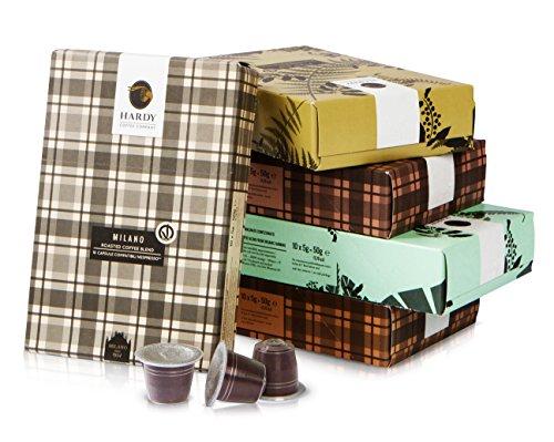 50 Nespresso Compatible Capsules - Hardy Caffé, est. 1954 - Italian Espresso Variety Pack (Complete Varieties, 50 Pods)