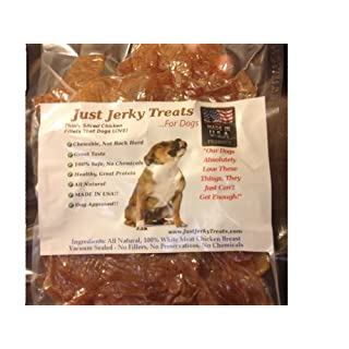 Natural Chicken Jerky Dog Treats - 1 Ingredient. USA Made. No Fillers. No Chemicals. 1lb.