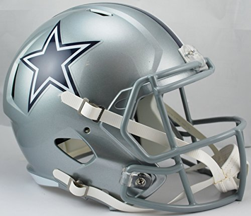 Riddell RIDDRSPDAL NFL Dallas Cowboys Full Size Replica Speed Helmet, Medium, Silver for $<!--$115.99-->