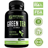 Green Tea Extract Supplement EGCG for Healthy Weight Loss, 120 Capsules - Natural Fat Burner, Boosts Metabolism, Promotes Healthy Heart, Antioxidant, Caffeine Source, Non-GMO, 500mg