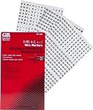 Gardner Bender 42-035 Pocket Wire Marker Booklet, A-Z, 1-90, & Symbols