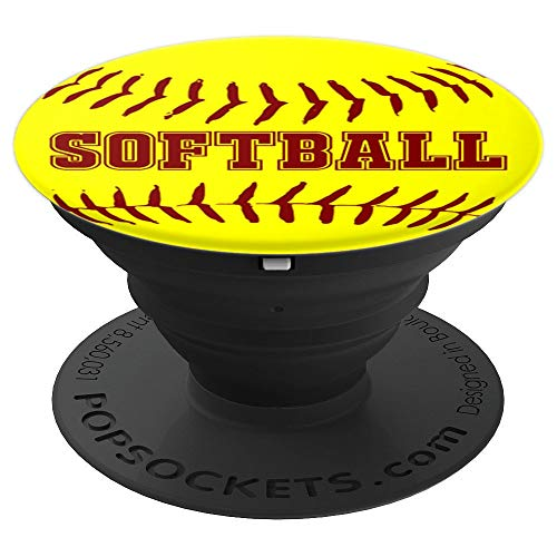 Yellow Softball Fast Pitch Player Coach - PopSockets Grip and Stand for Phones and Tablets