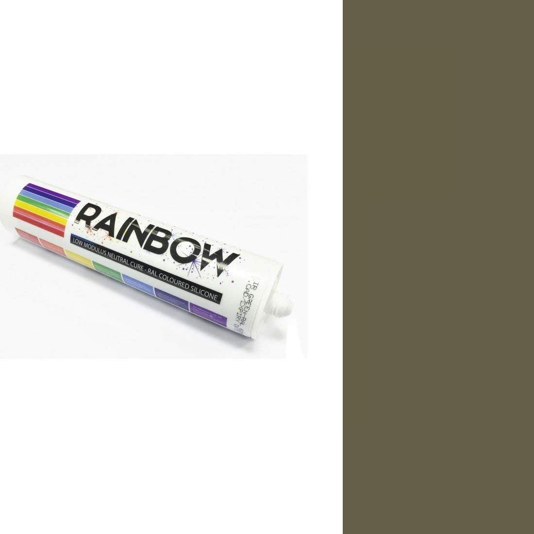 Rainbow RAL farbig Silikone Alu Grau abdichten Mastix Dichtstoff RAL 9007 300ml
