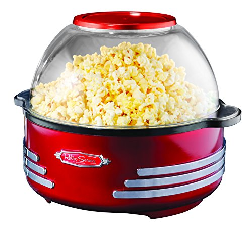 082677412027 - Nostalgia SP300RETRORED Retro Series 6-Quart Stirring Popcorn Popper carousel main 0