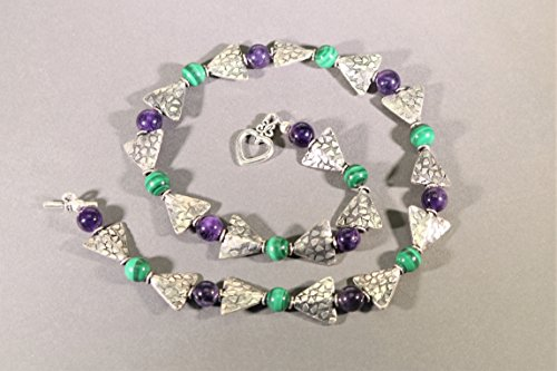 Malachite and Amethyst Necklace