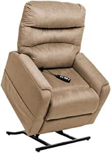 """Mega Motion MM-3601 Power Lift Recliner with Deluxe Heat and Massage. Suggested Ht 5'2"""" to 5'8"""" Wt. Seat Width 22"""". Capacity 325 Lbs. Free Curbside Delilvery. (Spice Stone)."""