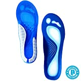 Perfect Posture - Shoe Insoles, Foot Pad Cushions; NEW CoolTec Gel, Advanced Material Technology, Comfortable, Durable!! Rapid Foot Pain Relief (2 Pieces) (Men's (US size 8-13))