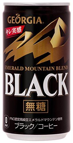코가콜라 조지아 에메랄드 마운틴 블렌드 블랙 캔 커피 185g×30개