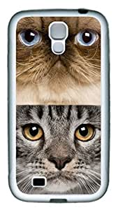 Brian114 Samsung Galaxy S4 Case, S4 Case - Slim Ultra Fit Soft Rubber Case for Samsung Galaxy S4 I9500 Lots Of Cats 4 Popular Design White Back Cover for Samsung Galaxy S4 I9500