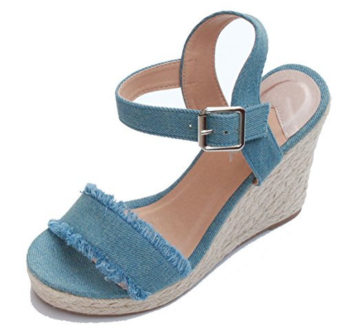 Azul Para Mujer Vestir De 15131337 Sandalias Only Y40wq7n