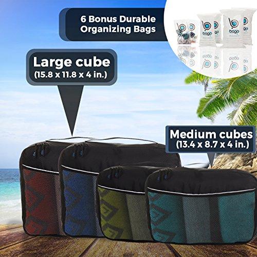 Bago Packing Cubes Travel Bags Luggage Organizer 10pcs