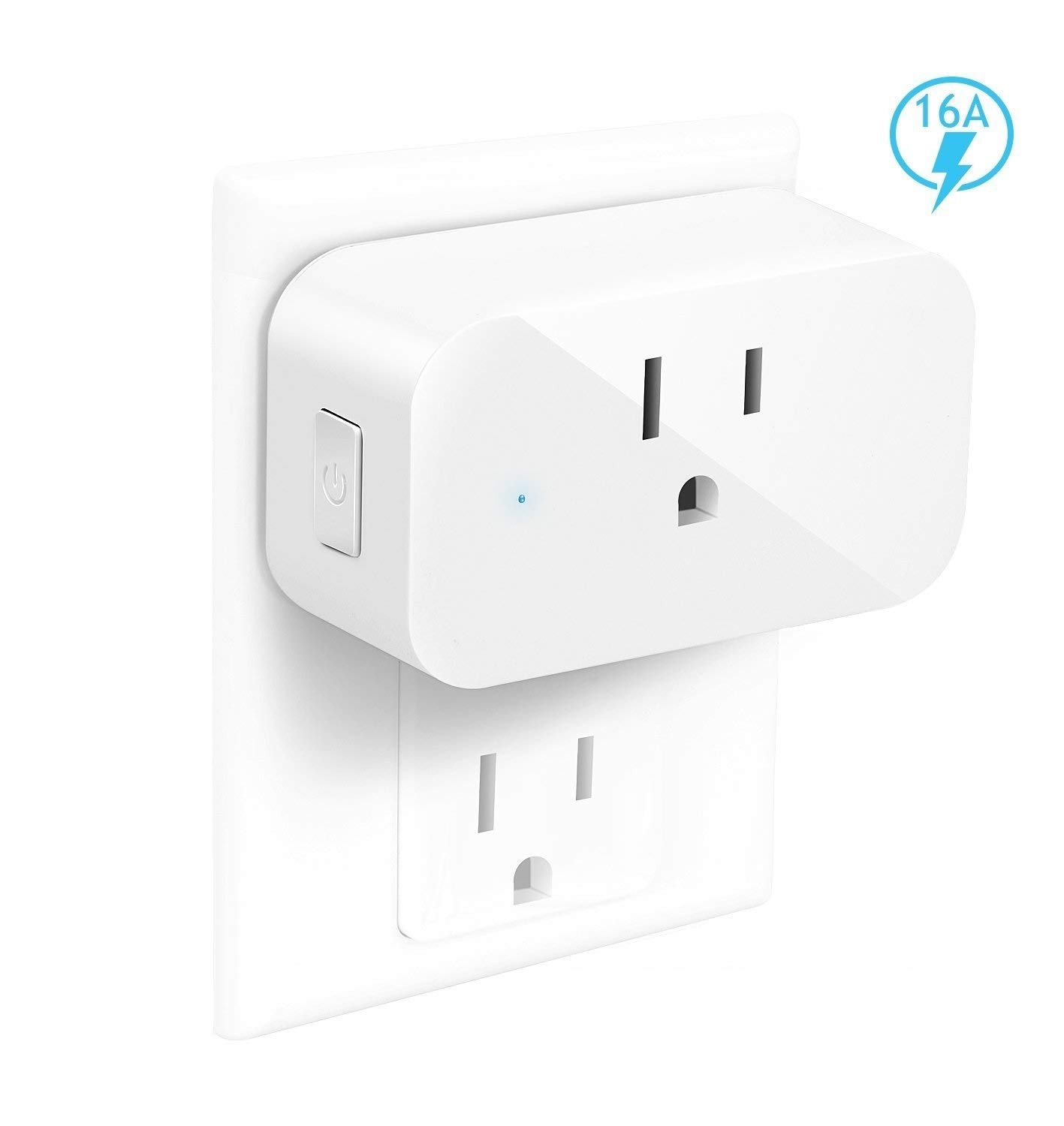 IoTeck Smart Wi-Fi Plug Compatible With Alexa, Echo, Google Home, IFTTT, and Smart Life, Mini Smart Socket with Timer Function, No Hub Required