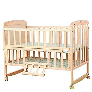 Amazon.com : Multi Functional Baby Cot High Quality Crib Pine Wood Cot  Upscale : Baby
