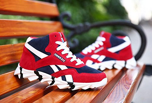 Primavera / Otoño / Invierno Zapatillas de deporte de la hoja del dragón Zapatos de los deportes de la tapa de la manera altos guarde caliente y respirable Red