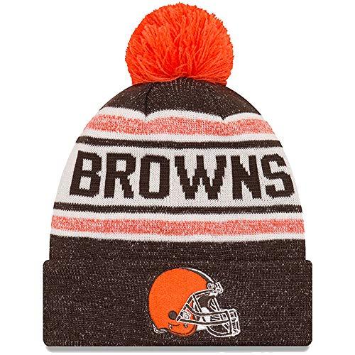 New Era Embroidered Beanie - New Era Cleveland Browns Toasty Cover Gray/Brown Sport Cuff Knit Beanie Unisex Hat, OSFM
