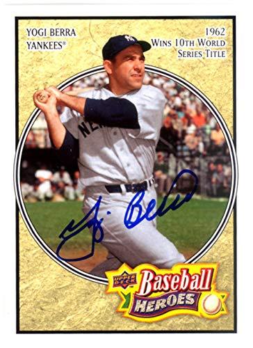 Yogi Berra Autographed 2008 Baseball Heroes Card #121 New York Yankees Steiner SKU #126213 - Upper Deck Certified