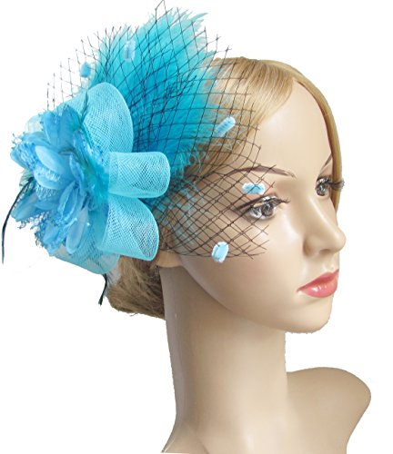 light blue feather clip - 1