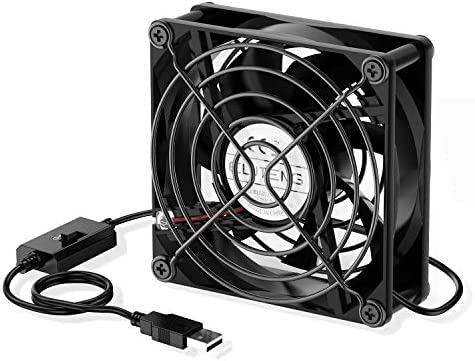 USB Computer Fan 5V Quite USB Ventilation Fan Compatible with 3 Speed Control for Receiver DVR Playstation Xbox Computer Cabinet Cooling 80 x 80 x 25mm ELUTENG USB Fan 80mm