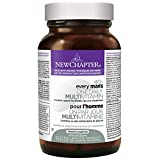 New Chapter Every Man's One Daily 40+, Men's Multivitamin Fermented with Probiotics + Saw Palmetto + B Vitamins + Vitamin D3 + Organic Non-GMO Ingredients  - 48 ct