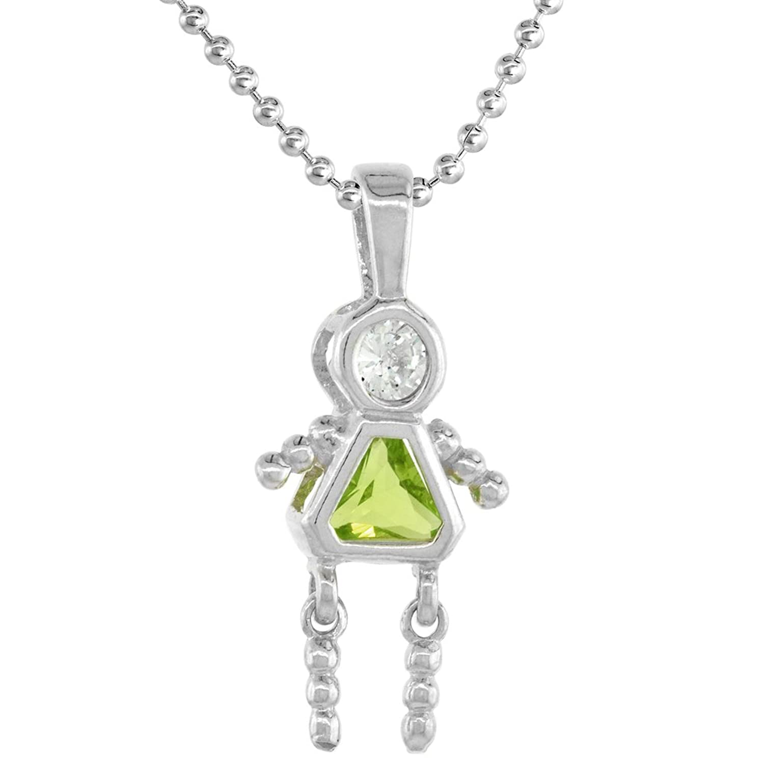 sterling ring necklace products silver peridot genuine w august birthstone