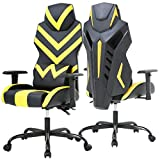 Office Chair Gaming Chair Desk Chair Executive Ergonomic Chair with Adjustable Armrest Swivel Rolling Computer Chair for Back Support(Yellow)