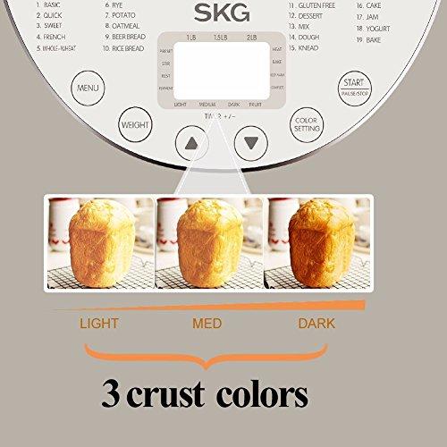 SKG Automatic Bread Machine 2LB - Beginner Friendly Programmable Bread Maker by SKG (Image #5)'