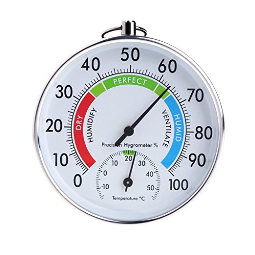 - Yuly Temperature And Humidity Analog Indicator Indoor Outdoor Thermometer Hygrometer