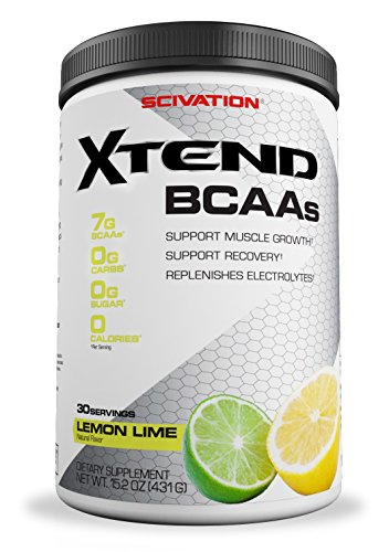 Scivation Xtend BCAA Powder, Branched Chain Amino Acids, BCAAs, Lemon Lime, 30 Servings
