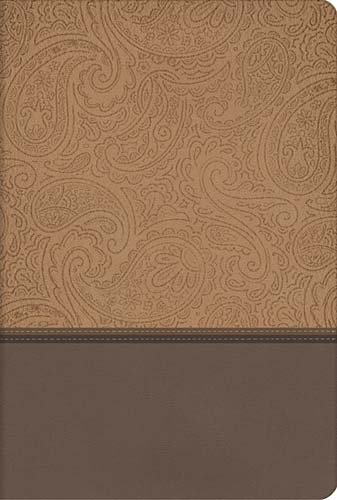 Holy Bible: New King James Version, Champagne / Deep Taupe, Leathersoft, Giant Print Reference Edition