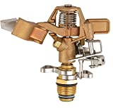 SOMMERLAND Heavy Duty Brass Impact Head Sprinkler 0 to 360 Degree Up to