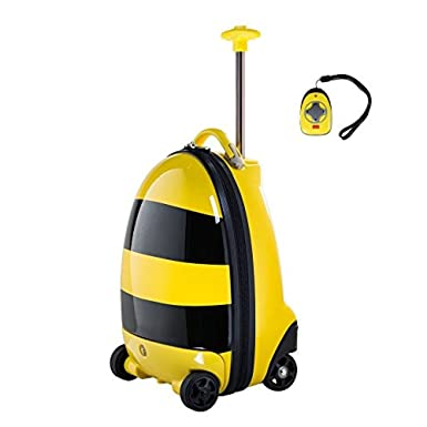 Amazon.com | Rastar Kids Rolling Luggage Bumblebee Remote Control ...