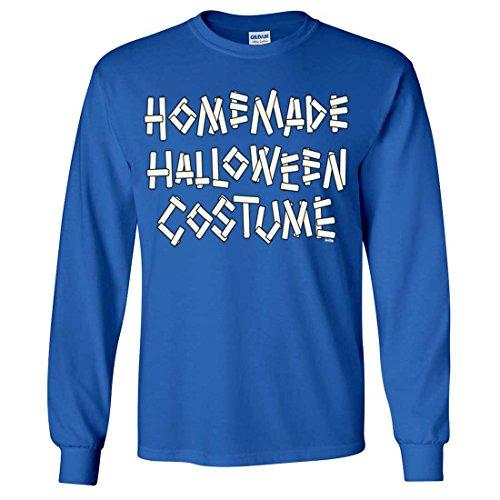 Homemade Halloween Costume Long Sleeve Shirt - Royal XX-Large (20 Homemade Halloween Costumes)