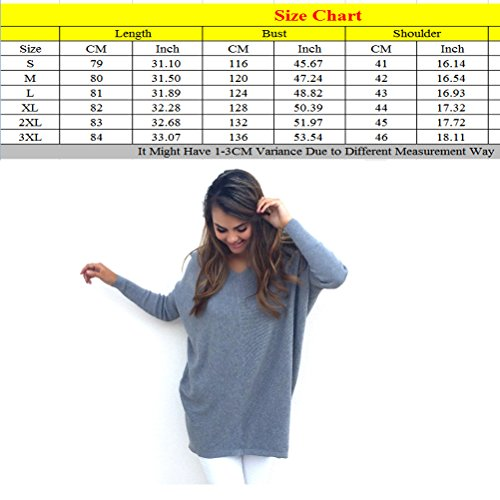 Black Oversized Sweater Autumn Baggy Knitted Womens Zhhyltt Sweater Chandail Neck Loose V Winter for qBTO8w