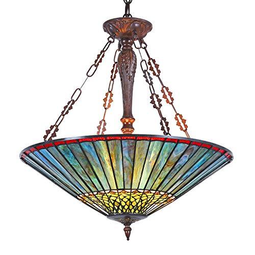 Capulina Tiffany Ceiling Pendant Lamp 3 Light Pool