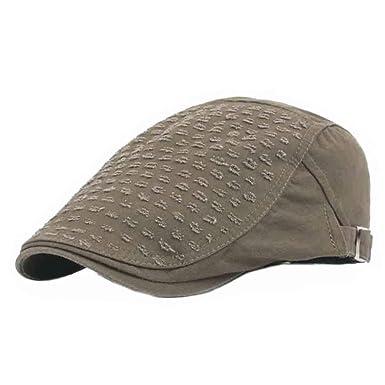 Moda para Hombre Color Retro Boina Sólido Gorra Sombrero Modernas ...