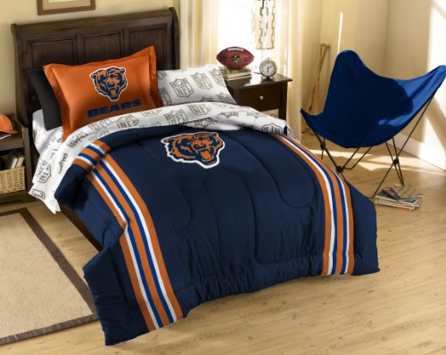 NFL Chicago Bears Twin Bed in a Bag with Applique Comforter